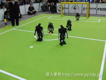世界大会でのロボット(自律式)